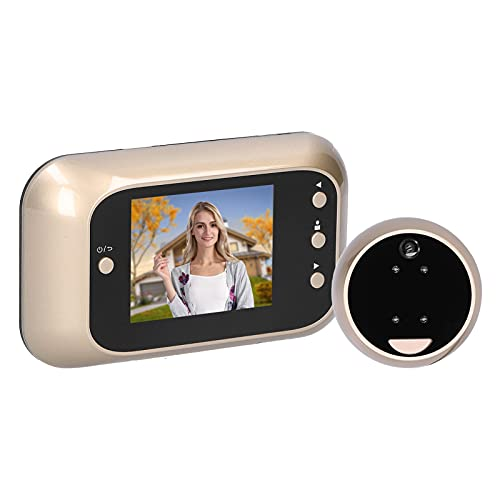 Telecamera di sicurezza per porta, sensore di immagine digitale Visualizzatore per porta digitale anti-intrusione 3 pollici HD 720P Scheda di memoria di ricarica USB in plastica e lega di
