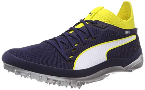 Puma Evospeed Netfit Sprint 2, Zapatillas de Atletismo Unisex Adulto, Amarillo (Blazing Yellow-Peacoat White), 40.5 EU
