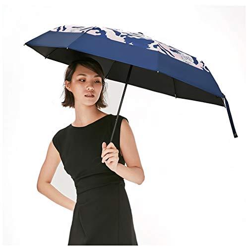 Sonnenschirm Camouflage Sonnencreme Taschenschirm Anti-UV Männer Frauen Ultraleichte Sonnencreme 99% UV Neue Produkte sind auf Verkauf (Color : Blue)