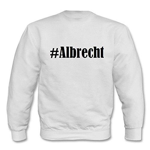 Reifen-Markt Sweatshirt Damen #Albrecht Größe XS Farbe Weiss Druck Schwarz