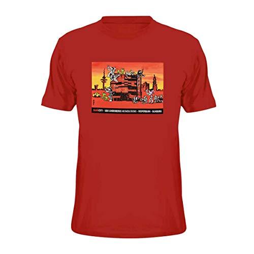 Panik City - UDO Lindenberg T-Shirt Herren rot Gr.S