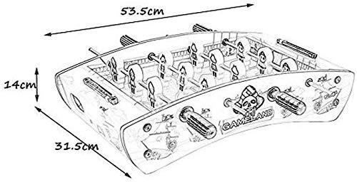 YUHT Mesa de futbolín, fútbol de Mesa, Juego de Mesa de fútbol, Pulgadas de Juego SportsTable: características de Varillas de Jugador de Acero Hueco, puntaje de Cuentas, tamaño 53.5 * 31.5 *