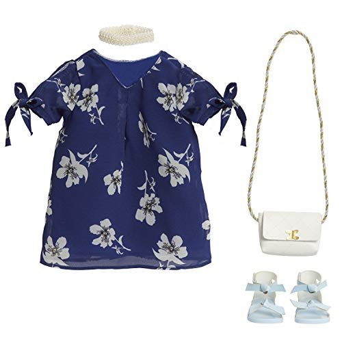 "Journey Girls 18"" Doll Fashion Set Blue & White Floral Dress - Amazon Exclusive"
