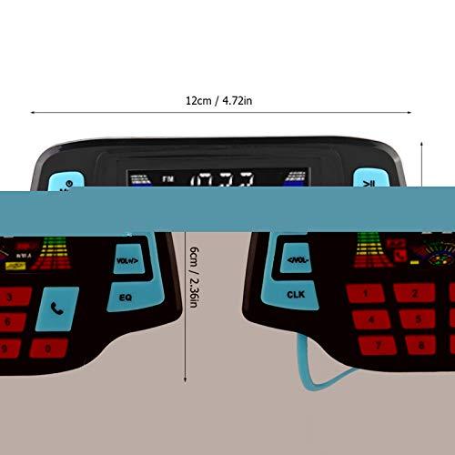 Reproductor de música Sistema de altavoces Motocicleta MP3 BT para piezas de automóvil para tarjeta TF