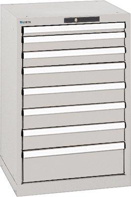 LISTA Schubladenschrank, Traglast/Schubl. 75 kg, 8 Schubladen: 1x50, 2x75, 4x100, 1x150 mm,...