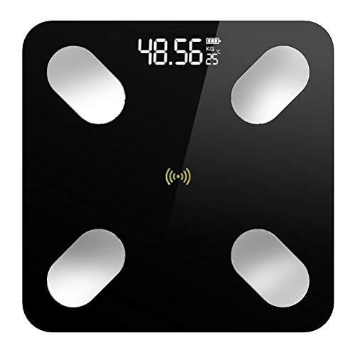 Báscula De Baño Digital Bluetooth Escala Electrónica Electrónica Máquina Automática De Conmutación Carga USB 180 Kg Peso Corporal,Black