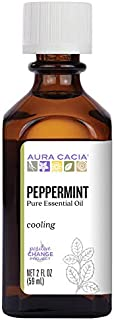Aura Cacia 100% Pure Peppermint Essential Oil   GC/MS Tested for Purity   60 ml (2 fl. oz.)   Mentha piperita