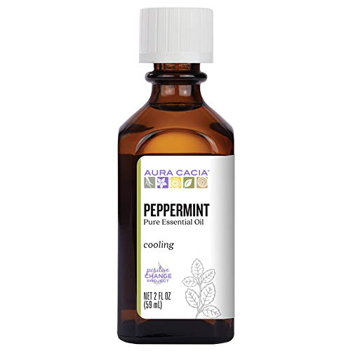 Aura Cacia 100% Pure Peppermint Essential Oil | GC/MS Tested for...