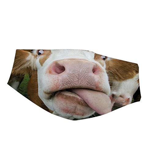 FeelFree+ Mundschutz Erwachsene Mundschutz 3D Druck Motiv Lustig Muster Waschbar Mund und Nasenschutz Stoff Mehrweg Atmungsaktiv uch Halstuch Bandana Lustige Motive Mund nasenschutz