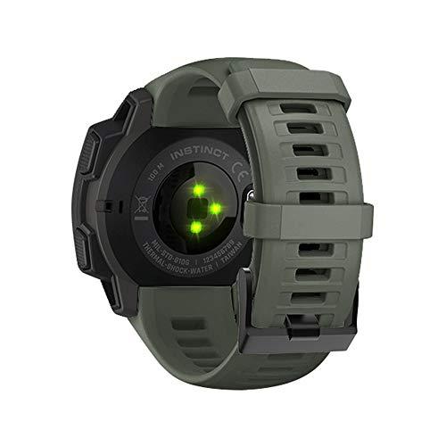WIIKAI Bracelet Compatible avec Garmin Instinct 22mm Réglables Replacement Band pour for Garmin Instinct 22mm Wristband Bracelet de Montres(Meulage de Pierre)