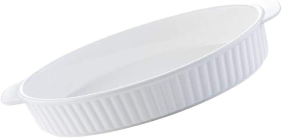 BESTonZON Keramik Auflaufform Porzellan Oval Auflauf Backform Geh/ärtet Hitzebest/ändige Backbleche Antihaft-Tortenplatte Tortenform Backform f/ür Die K/üche zu Hause Grill Backofen Backen 6