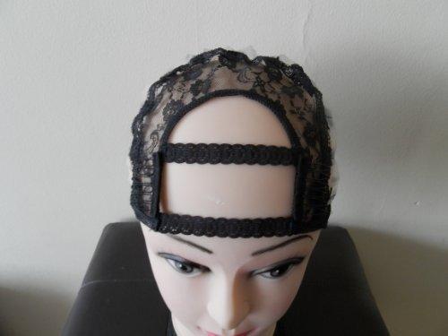 Taille S - Largeur : 7,5 cm - Idéal pour les peignes et les bandeaux - Perruque noire avec peignes et sangles.