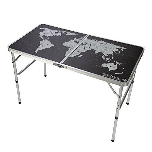 Regatta - Spieltische in Schwarz/Silber, Größe Einheitsgröße