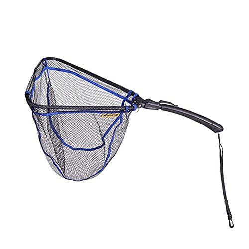 FFYUE Triangular Buceo Net Silicone Luffy Buceo Net Portátil Plegable 70 Cm De Largo Camarones De Pesca Y Cangrejo,A