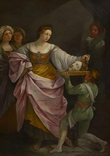NIUZIMU Zahlen für Erwachsene Kinder - Salome und der Kopf des Heiligen Johannes des Täufers - DIY Digitales Malen nach Zahlen Kits auf Leinwand
