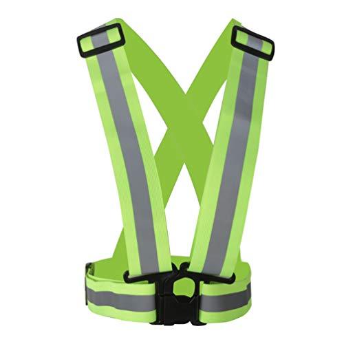 YNuth - Running-Reflektoren in 1x Reflektorweste, Größe Taillie 70-98cm