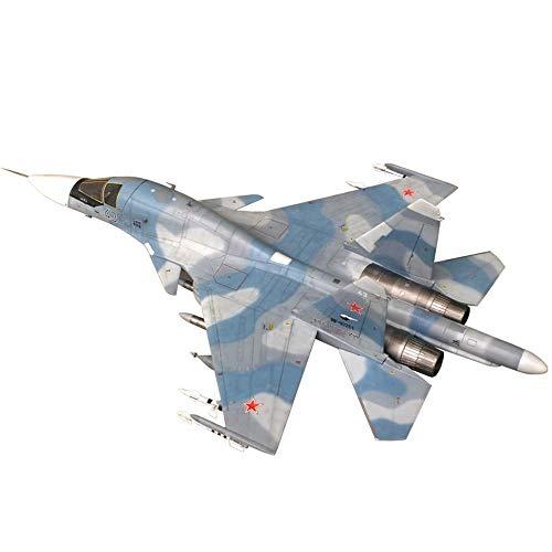 HKX Modelo de rompecabezas de aviones escala 1/72, modelo militar Su-34 de aleación de bombardero con soporte, juguetes y regalos para niños