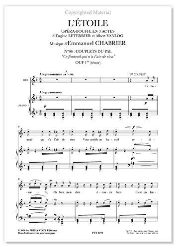 Chabrier, Emmanuel • ÉTOILE (L) • Ce fauteuil qui na lair de rien (ténor)