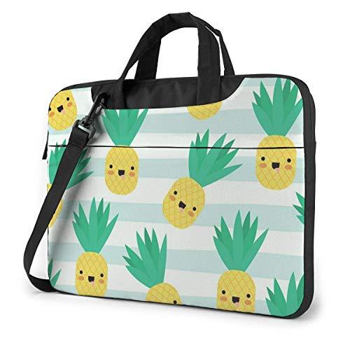 Pineapple Kawaii Fruits Stylish Shockproof Laptop Case with Shoulder Strap -Laptop Bag 15.6inch