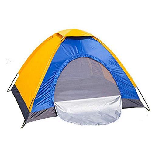Tiendas de campaña son convenientes y rápida Estable de fibra de vidrio de Rod tienda de campaña de tela Oxford tienda impermeable al aire libre camping Individual Vacaciones familiares