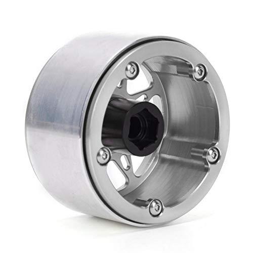 SALUTUYA Procesamiento CNC Fácil instalación Aleación de Aluminio Aleación de Aluminio Cubos de Rueda Repuestos RC para TRX4 SCX10 RR10 90048 1/10 Modelo de Coche RC(Silver)