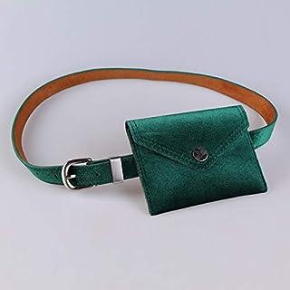 Adebie - Velvet Winter New Fashion Famous Brand Designer Luxury Women Waist Bag Small Female Funny Pack Simple Chest Bag Lady Belt Bag Green []