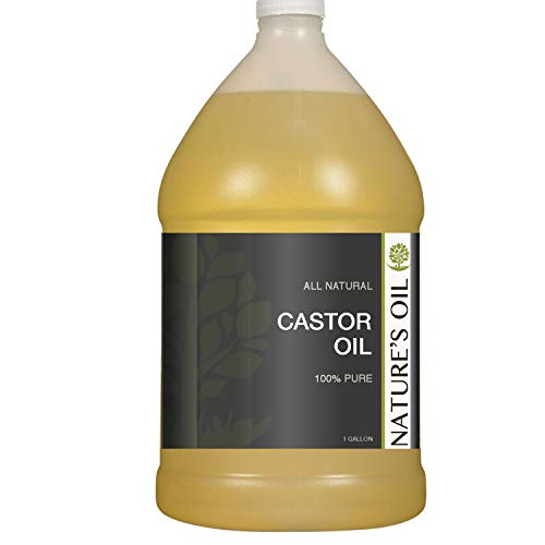 Castor Oil Gallon - 100% Pure Carrier for Massage, Diluting Essential Oils, Aromatherapy, Hair & Skin Care Benefits, Moisturizer & Softener - by Nature