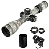 Bobcat KING Camouflage Rifle Scope 3-12x44 SFIR,30Mm Tube.with Flip-Open Lens Caps and Quick-Detachable Rings,Free Mount. (3-12x44-C)