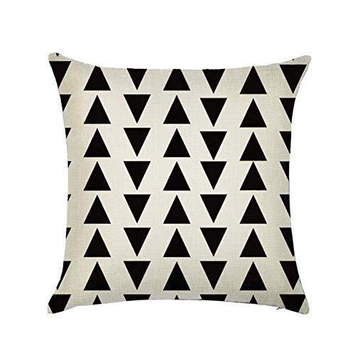 Sweetbeibei 45x45cm Home Decoration, Unique Geometric Square Cotton Linen Sofa Cushion, Waist Circumference, Cushion Decoration (Kleur : 18, Specificatie : 45x45cm)