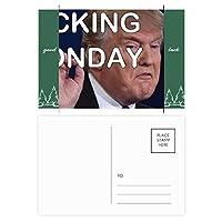アメリカの切り札大統領のおもしろ画像 グッドラック・ポストカードセットのカードを郵送側20個