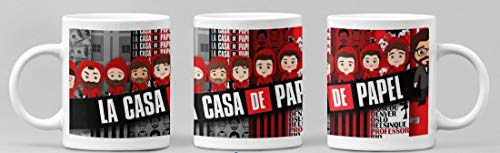 Desconocido Taza LA CASA DE Papel Personajes Animados. Taza de Ceramica de...