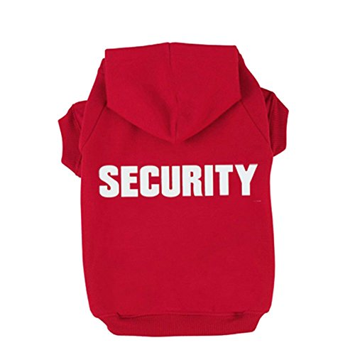 BINGPET BA1002-1 Security Patterns Printed Puppy Pet Hoodie Dog Clothes Large