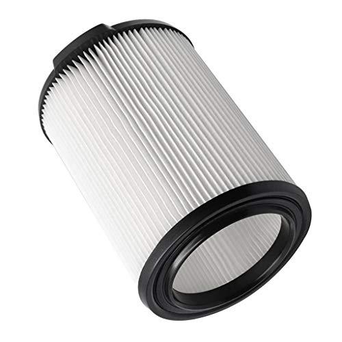 Non-brand Reemplazo de Filtro de Aspiradora Húmedo/Seco Estándar Lavable Reutilizable para Aspiradora Ridgid VF4000 (Blanco, 1)
