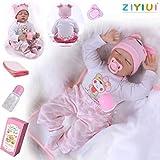 ZIYIUI 22 Pulgadas Lifelike Reborn Bebé Muñecas Vinilo de Silicona Realista Hecho a Mano Bebés para ...