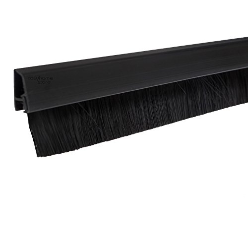 Stormguard 02sr0720914bl 914mm burlete, sello Clip Parte inferior Puerta cepillo–negro