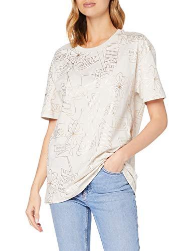 NIKE Camiseta Deportiva para Mujer Icon Clash 2 Boy, Mujer, Camiseta, CZ4407, Lt Orewood Brn, Extra-Large