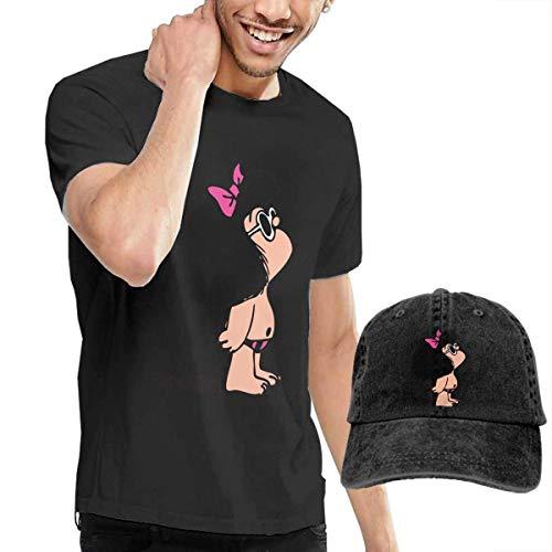 AYYUCY Camisetas y Tops Hombre Polos y Camisas, Novelty Men's Toda Mafalda T-Shirt and Hats Black