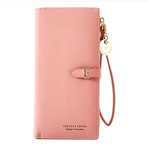Damen PU Leder Lange Brieftasche mit Anhänger Kartenhalter Handytasche Mädchen Reißverschluss Geldbörse, Handytasche für Sony Xperia XA1 Plus XZ1 XA2 Z2 Compact L1 L2