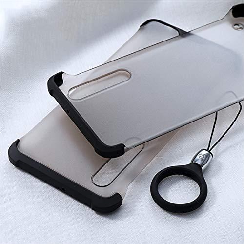 Phone Case Phone Cover Funda Protectora de TPU a Prueba de Golpes XUNDD Matin Series para Huawei P30, con Anillo (Negro) + Moda (Color : Black)