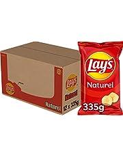Lay's Chips Naturel, Doos 12 stuks x 335 g