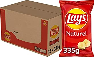 Lay's Chips Naturel, 12 x 335 g