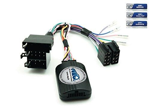 NIQ CAN-BUS Lenkradfernbedienungsadapter geeignet für JVC Autoradios, kompatibel mit Fiat 500 / Doblo / Ducato / Idea / Punto