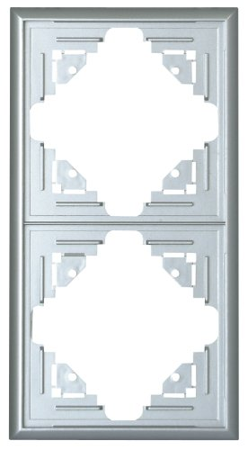 Preisvergleich Produktbild Kopp Malta Abdeckrahmen für senkrechte und waagerechte Montage (2-fach),  silber,  309220060