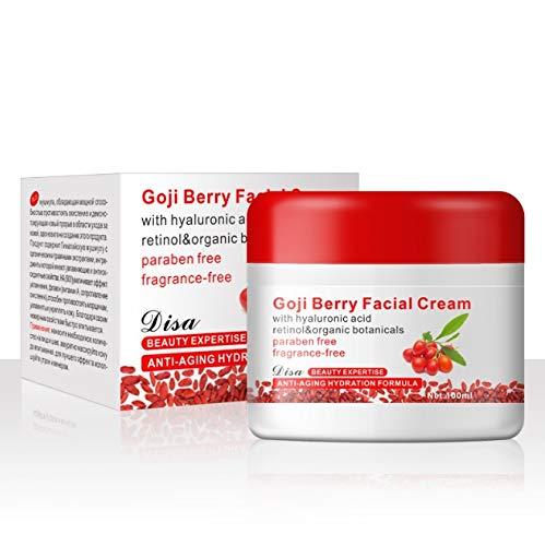 Goji Cream - Delaman Crema Facial Antiarrugas de Multi-efecto, Reafirmante, Crema Hidratante Día/Noche, Acondicionador de la Piel, Chinese Wolfberry Medlar, 100g