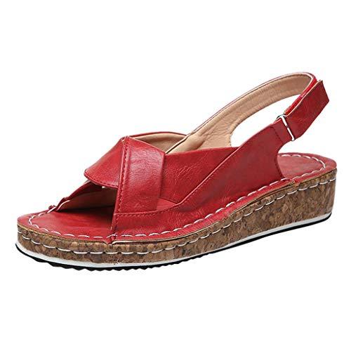 PAOLIAN Sandalias Mujer Verano Plataforma Cuña 2020 Zapatos Mujer Tacon Medio Elegantes...