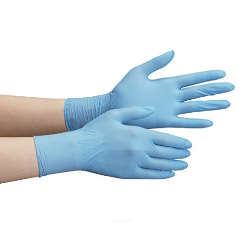 ミドリ安全 ニトリル手袋 ベルテ710N 薄手タイプ 粉なし ブルー S 100枚入