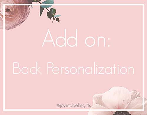 Back Personalization Add On