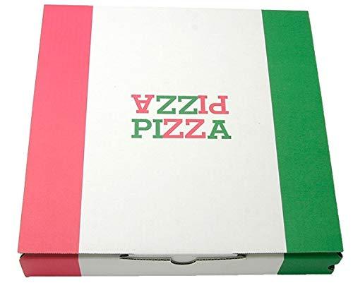 【業務用】日本製 ピザボックス|ピザケース|ピザ箱 イタリアンカラー 【10インチ(約26cm)】 ピザパッケージ 100枚入りピザの箱 テイクアウト デリバリー 持ち帰り ダンボール 紙容器 食品包材