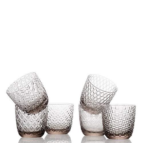 Sixties Set 6 Bicchieri Acqua Grigio Tortora 6 Ottiche Assortite Cl. 31