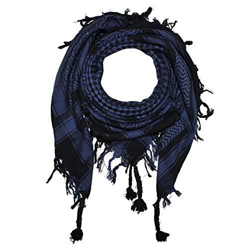 Superfreak Palituch - Karomuster klein schwarz - blau - 100x100 cm - Pali Palästinenser Arafat Tuch - 100% Baumwolle